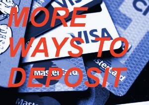 Make a deposit or withdrawal with Visa or MasterCard